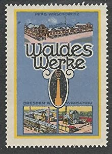 Germany, Waldes Factories in Prague, Dresden and Warsaw, Early Poster Stamp