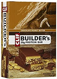Clif Bar Builder\'s Protein Bars, Chocolate Peanut Butter, 12 ct