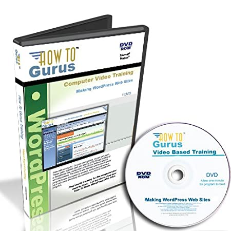 How To Make WordPress Web Sites, Tutorial Training on DVD, 6.5 Hours in 88 Computer Software Video Lessons