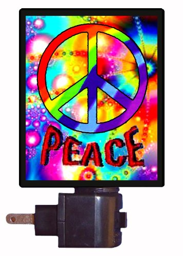 Peace Symbol Night Light