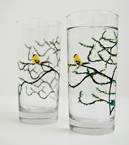 yellow-finch-glassware-set-of-2-everyday-glasses