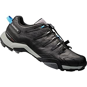 Shimano 2014 Men's Recreational/Mountain Touring Bike Shoe - SH-MT44L (Black - 44)