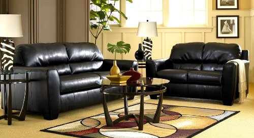 Buy Low Price AtHomeMart Black Sofa, Loveseat, and Recliner Set (ASLY9420038_9420035_9420025_3PC)