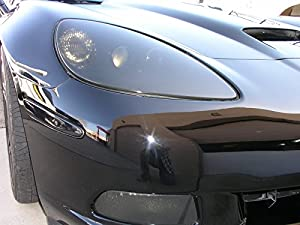Aggressive Overlays C6-HL-3 - 35% Light Smoked - C6 Corvette Smoked Film for Head Lights Smoked Overlays tinted vinyl film Headlight precut from Aggressive Overlays