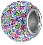 Disney Stainless Steel Patterned Crystal Bead Charm