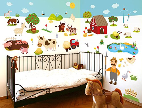 i love wandtattoo was 10011 wandsticker kinderzimmer bauernhof wandtattoo wandaufkleber. Black Bedroom Furniture Sets. Home Design Ideas