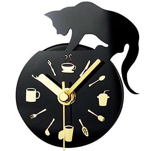 Japace-Horloge-Magntique-Frigo-Mini-Horloge-Analogique-Silencieuse-pour-la-Cuisine-Chat