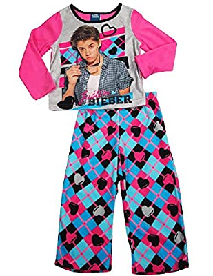 Justin Bieber - Big Girls Long Sleeve Justin Bieber Fleece Pajamas