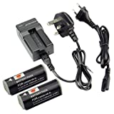 DSTE® 2pcs NB-9L Replacement Li-ion Battery + Charger DC110U for Canon PowerShot N, ELPH 510 HS, ELPH 520 HS, ELPH 530 HS, SD4500 IS, SLR Cameras