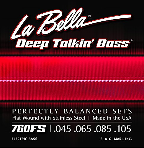 La Bella Electric Bass Guitar Deep Talkin` Bass Standard, .045 - .105, Stainless Steel Flat Wound,