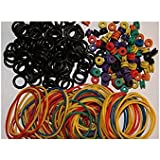 Tattoo Grommets, O Ring's and Rubber Bands 300 Pcs