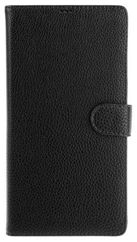 カードポケット付きレザーケース for Xperia (TM) Z Ultra SOL24/SGP412JP (ブラック)