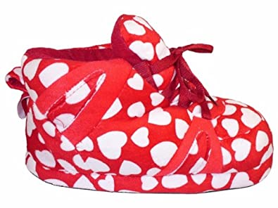 Happy Feet - Red Heart - Slippers - Small