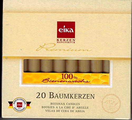 20 Stück Baumkerzen 100% Bienenwachs Christbaumkerzen 1 Packung á 20 Stk.
