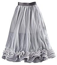 Women's Pleated Skirt Ladies Chiffon…