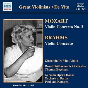 Great Violinists: Gioconda De Vito - Violinkonzerte