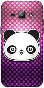 Snoogg Cute Panda Solid Snap On - Back Cover All Around Protection Forsamsung...