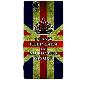 Skin4gadgets I CAN'T KEEP CALM I'm NO LONGER SINGLE - Colour - UK Flag Phone Skin for SONY XPERIA T2 ULTRA