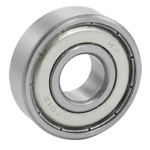 uxcell® 6201Z 12 x 32 x 10mm Double Shielded Deep Groove Wheel Ball Bearing
