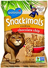 Barbara's Bakery Snackimals Animal Cookies, Chocolate Chip, 2.125-Ounce Bags (Pack of 18)