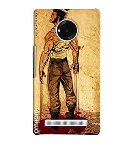 Omnam Man With Breaking Nerves Emotional Designed Back Cover Case For Micromax Yunique