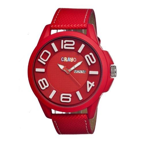 crayo-cracr0103-cracr0103-red-orologio-da-polso-da-uomo-cinturino-in-caucciu-colore-rosso