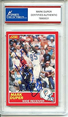 Mark Duper Autographed Miami Dolphins Trading Card - Certified Authentic