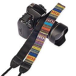 Eggsnow Camera Shoulder Neck Strap Vintage Belt for All DSLR Camera(Nikon Canon Sony Pentax etc) - Multi