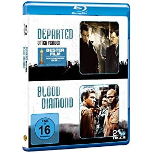 514%2B0d6CXkL. AA300  Blu ray Double Feature: Departed – Unter Feinden & Blood Diamond nur 11,54€ inkl. Versand!