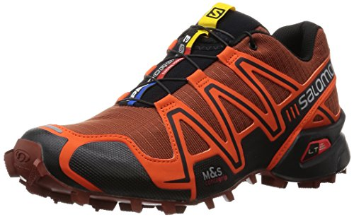 SalomonSpeedcross 3 - Scarpe da Trail Running Uomo , Rosso (Rot (Deep Red/Tomato Red/Black)), 43 1/3
