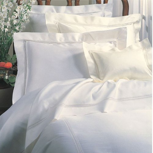 Sferra Diamante 88 X 92 Queen Duvet Cover - White,Ivory