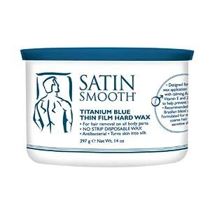 Satin Smooth Titanium Blue Thin Film Hard Wax 14 Oz Can