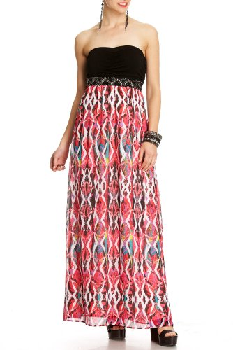 Cheap 2b Paige Ikat Print Maxi Dress
