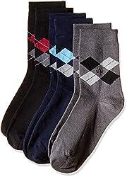 Arrow Men's Plain Knee-high Socks (Pack of 3) (8904135547879_Multicoloured)