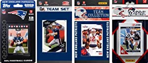 NFL New England Patriots 4 Different Licensed Trading Card Team Sets by C&I Collectables