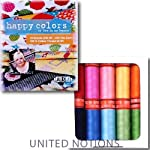 Aurifil Thread Set HAPPY COLORS By Lori Holt 50wt Cotton 10 Small (220 yard) Spools