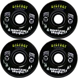 BIGFOOT Longboard Wheels 76mm CRUISERS Black + Abec 9