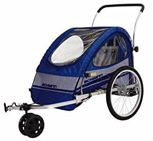 Schwinn Trailblazer Double Bicycle Trailer (Blue/Gray)