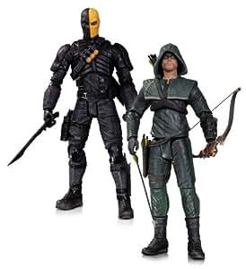 Arrow Oliver Queen Deathstroke Action Figurine 2 Pack