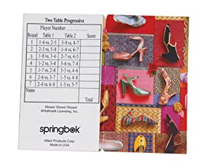 Shoes Shoes Shoes Bridge Tallies (12 Pack) - 2 And 3 Table Progressive