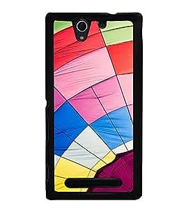 Multi Color Web Back Case Cover for SONY XPERIA C3