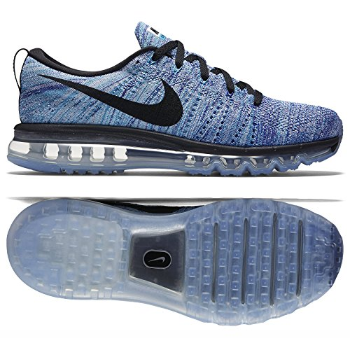 Nike Flyknit Air Max 620469-104 White/Blue/Concord/Black Men's Shoes (Medium / 11 D(M) US) (Nike Air Max Flyknit compare prices)