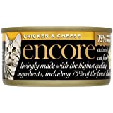 Encore Cat Tin Chicken and Cheese, 70g, (Pack of 18)