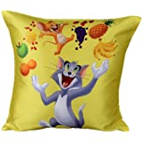 MeSleep Warner Brother Digitally Printed Tom And Jerry Cushion Cover - Multicolor (WBtj-F-02-16)