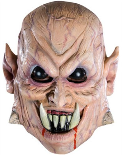 New Adult's Evil Scary Demon Vampire Vinyl Costume Mask