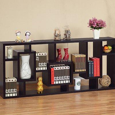 Bradshaw Unique Bookcase / Display Cabinet in Red Cocoa
