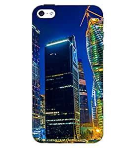 PrintDhaba SUPER CITY D-6493 Back Case Cover for APPLE IPHONE 5 (Multi-Coloured)