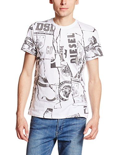 ホワイト メンズ Tシャツ T-DIEGO-WR T-SHIRT 00SV1C0091B 100L