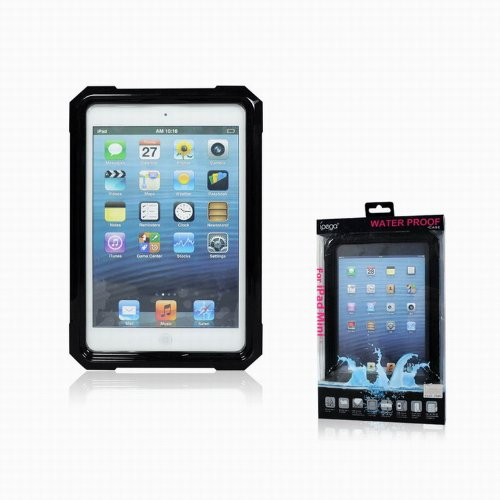 ipegaiPad mini 防水ケース ストラップ付き ブラック