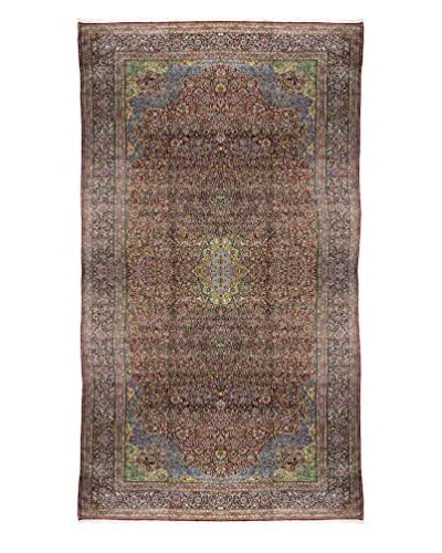 Bashian Hand-Knotted Authentic Persian 'Semi-Antique Kerman' One-of-a-Kind Rug, Red, 14' 7 x 32' 7